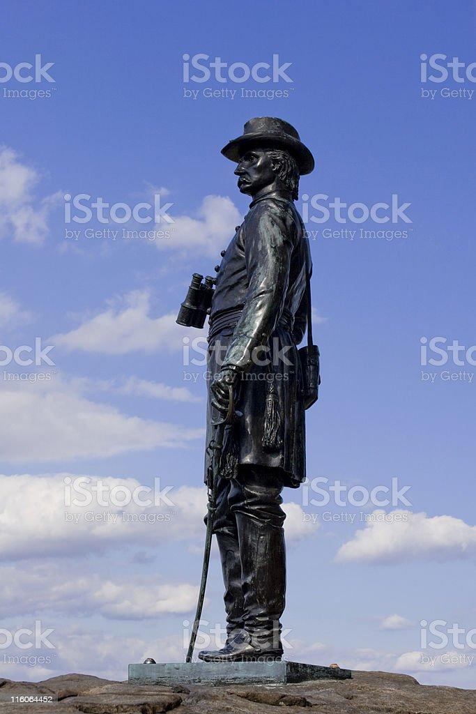 Statue of General Warren on Little Round Top stock photo