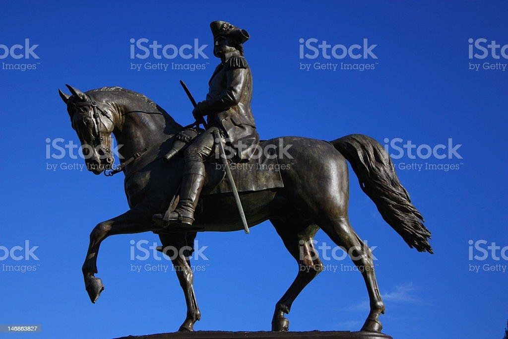 Statue of George Washington royalty-free stock photo