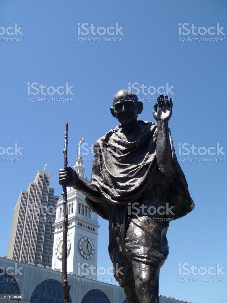 Statue of Ghandi stock photo