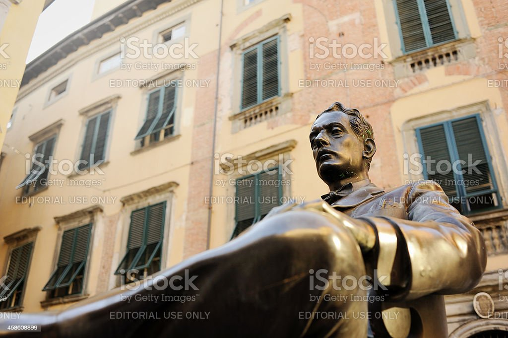 Statue of Giacomo Puccini in Lucca stock photo