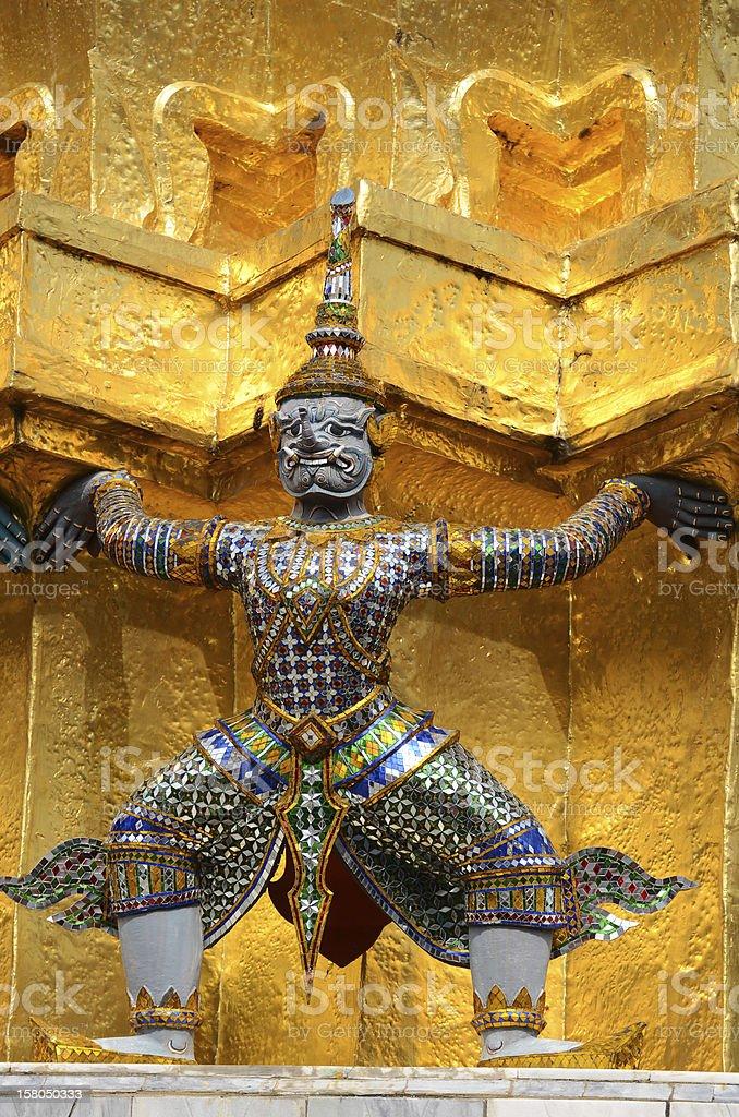Statue of Giant Guardians inWat Phra Kaeo royalty-free stock photo