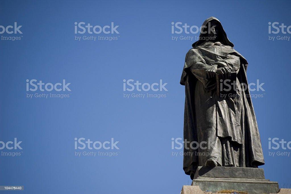 Statue of Giordano Bruno in Campo dei Fiori, Rome stock photo