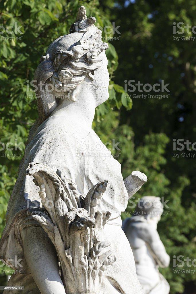 statue of goddess Ceres at Jardin des Tuileries in Paris stock photo