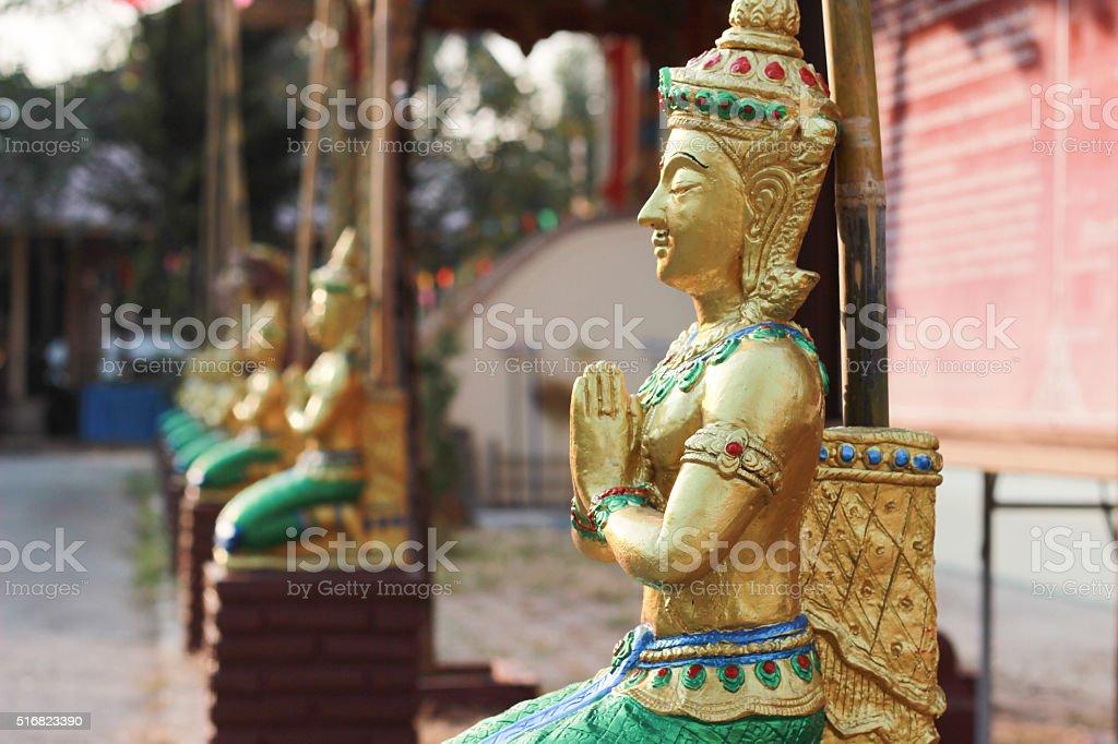 Statue of goddess worship stock photo