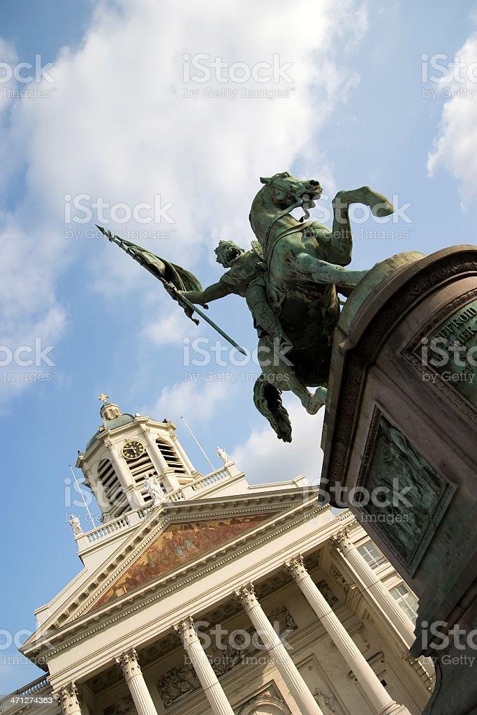 Statue von Gottfried von Bouillon Lizenzfreies stock-foto