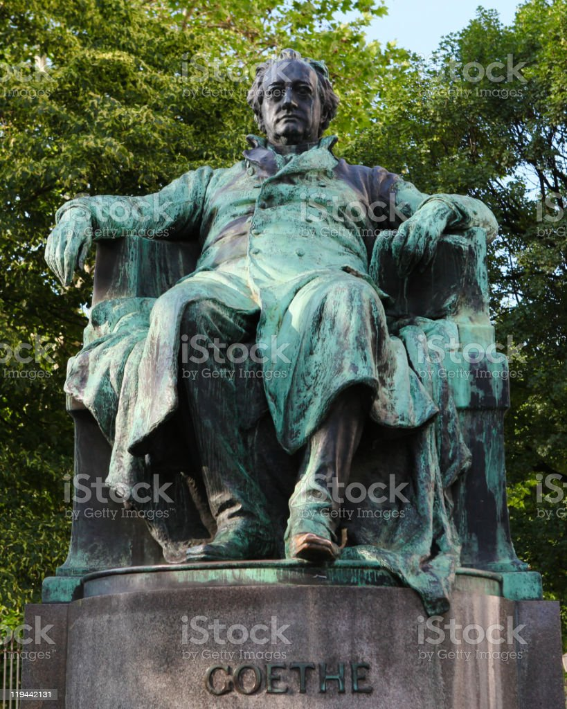 Statue of Goethe in Vienna royalty-free stock photo