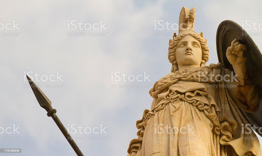 Statue of Greek goddess, Athena stock photo
