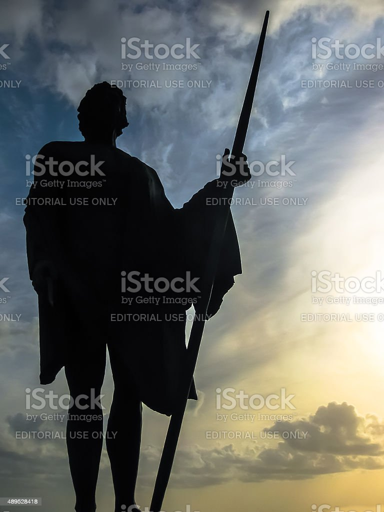 Statue of Guanche King stock photo