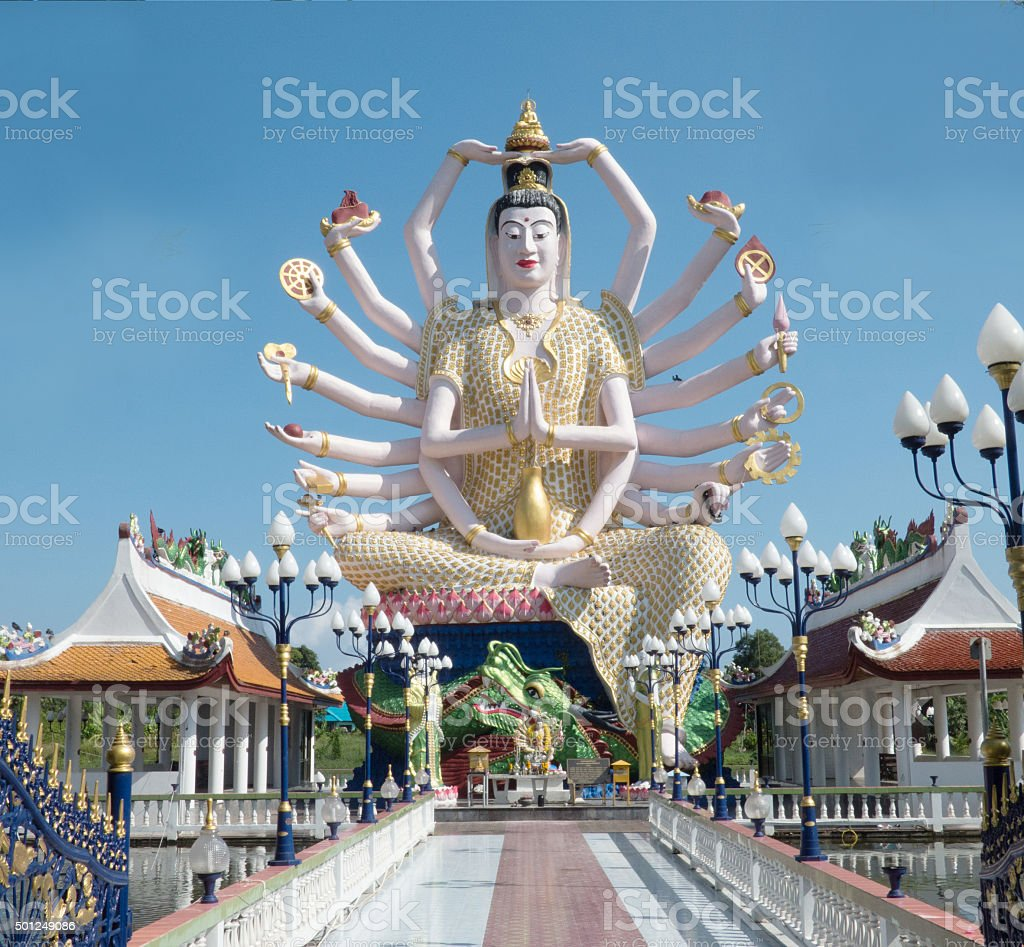 Statue of Guanyin 2015 Thailand stock photo