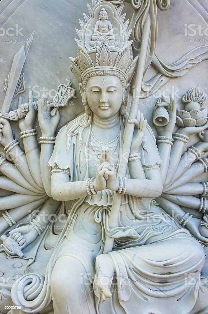 Statue of Guanyin stock photo