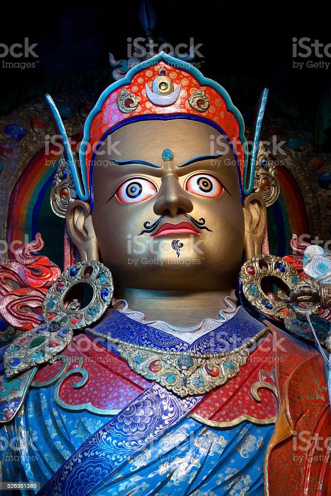 Statue of Guru Padmasabhava at Hemis Gompa in Ladakh, India stock photo