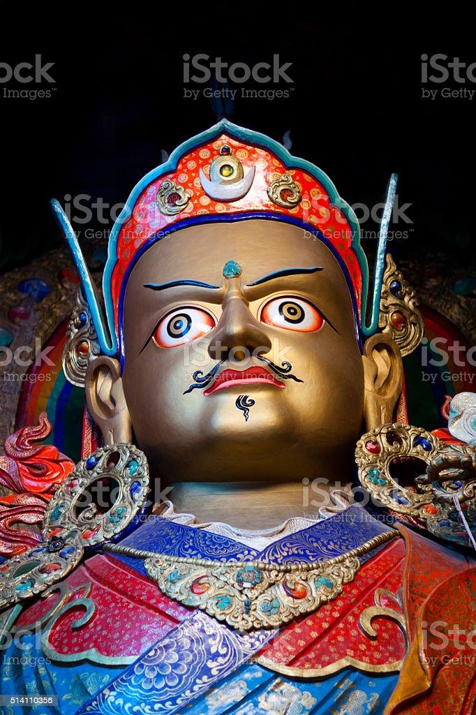Statue of Guru Padmasambhava at Hemis Gompa in Leh, India stock photo