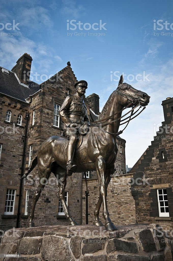 Statue Of Haig In Edinburgh stock photo