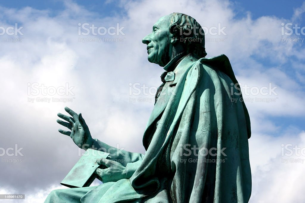Statue of Hans Christian Andersen stock photo