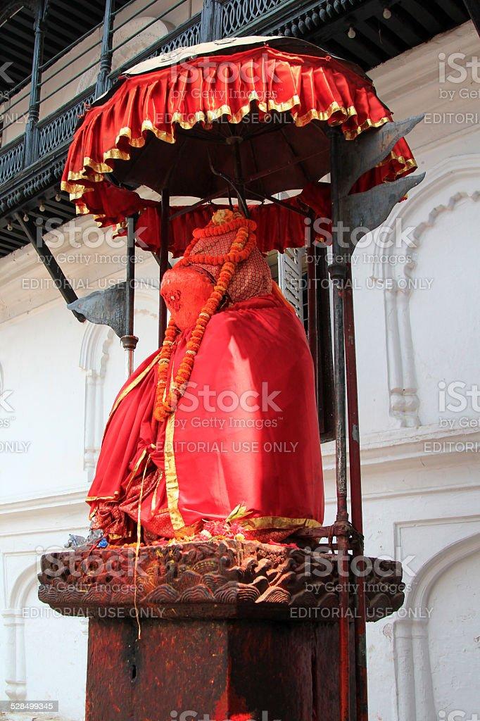 Statue of Hanuman in Kathmandu, Nepal stock photo