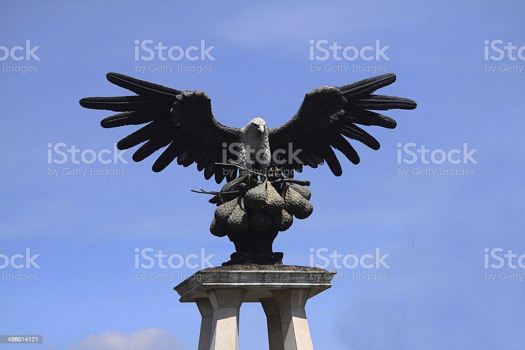 Statue of Hawk stock photo
