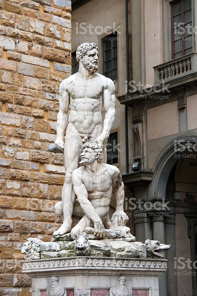Statue of Hercules and Cacus royalty-free stock photo