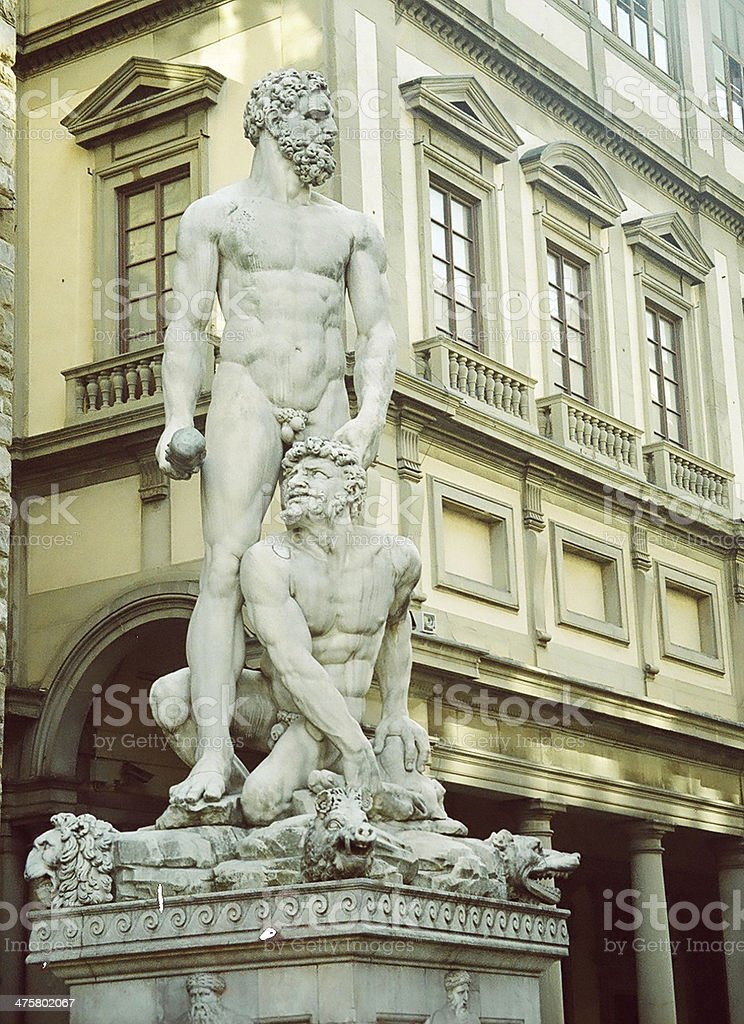 Statue of Hercules and Cacus stock photo
