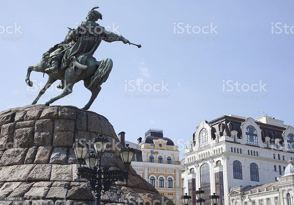 statue of Hetman Khmelnytsky (XXL) stock photo