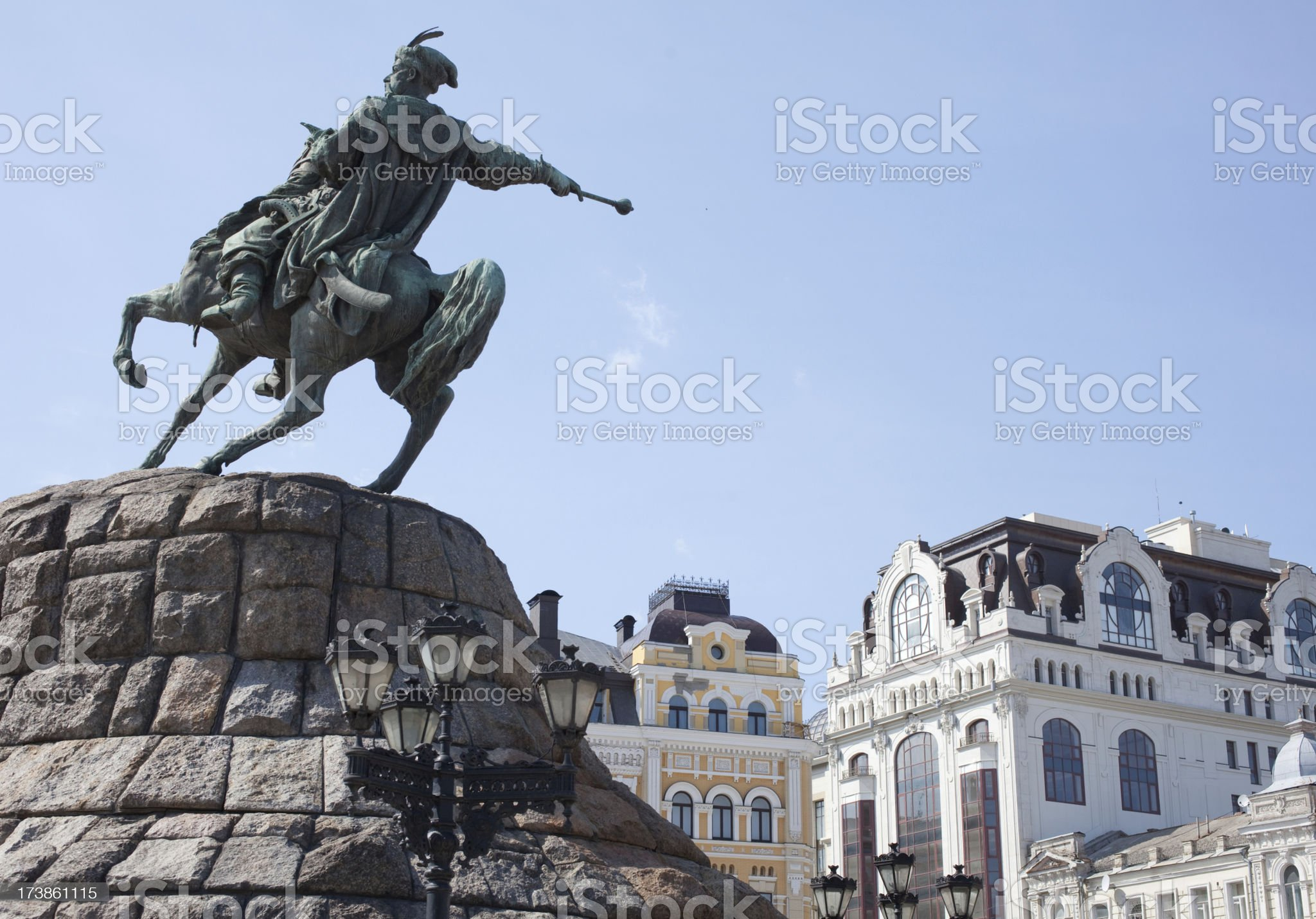 statue of Hetman Khmelnytsky (XXL) royalty-free stock photo
