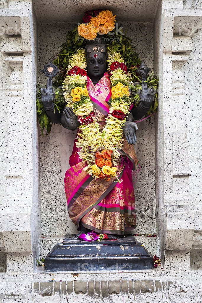 Statue of HIndu God in Singapore Temple royalty-free stock photo