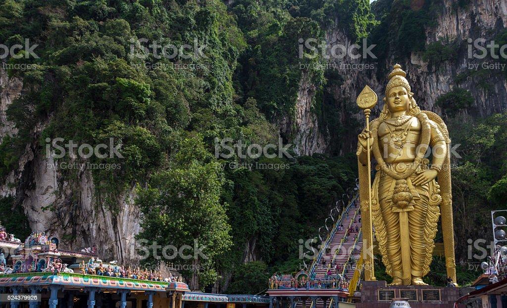 Statue of hindu god Muragan stock photo
