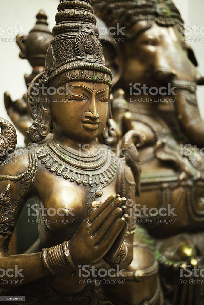 Statue of Hindu Goddess Parvati stock photo