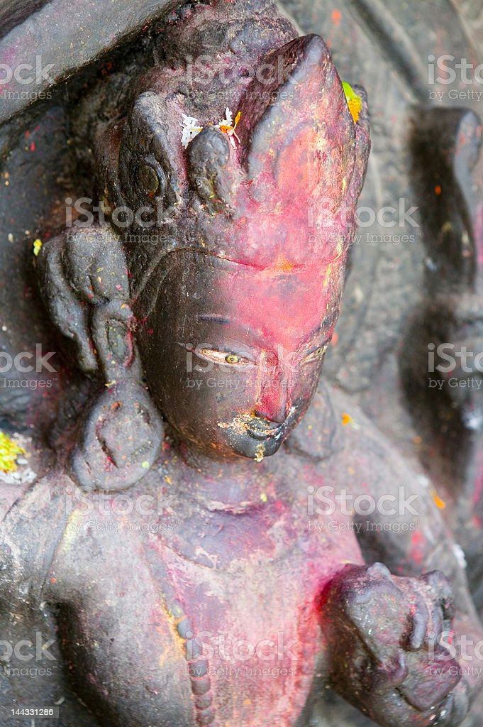 Statue of Hindu goddess royalty-free stock photo