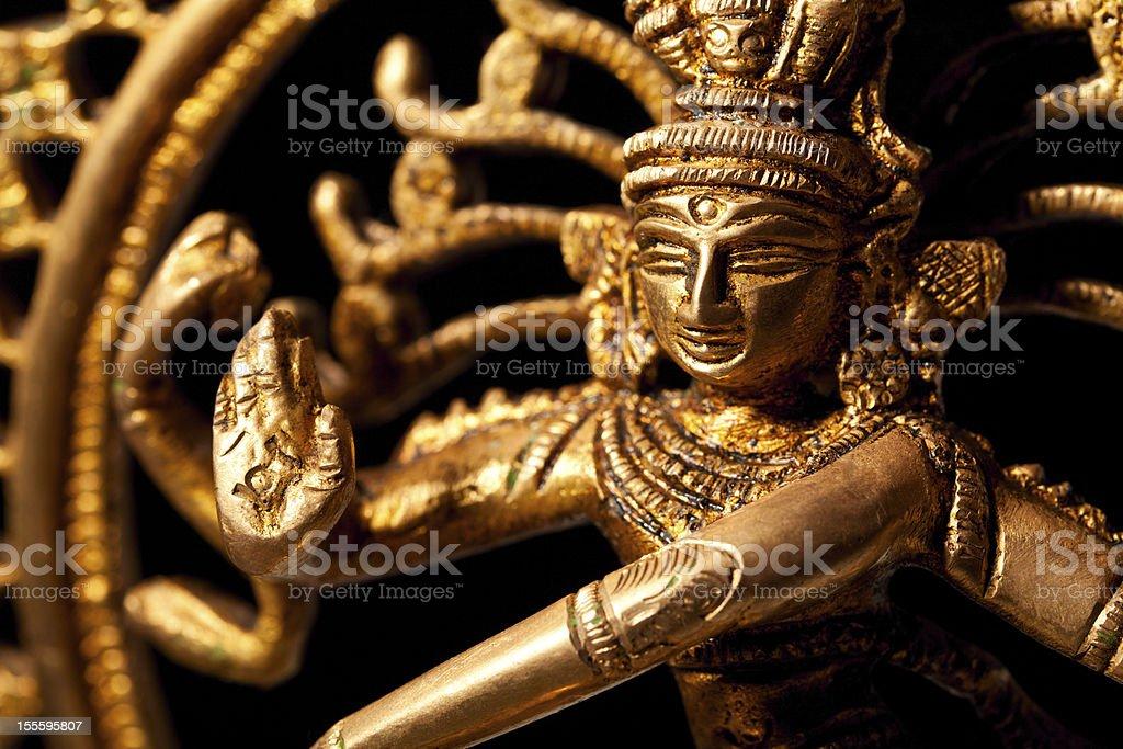 Statue of indian hindu god Shiva Nataraja stock photo