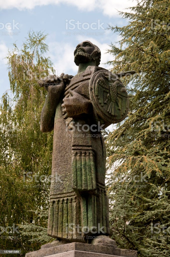 Statua di Ivan Crnojevic foto stock royalty-free