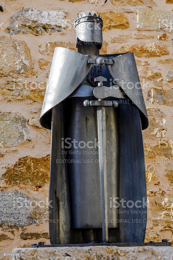 Statue of James I the Conqueror, Ares del Maestrazgo, Spain stock photo