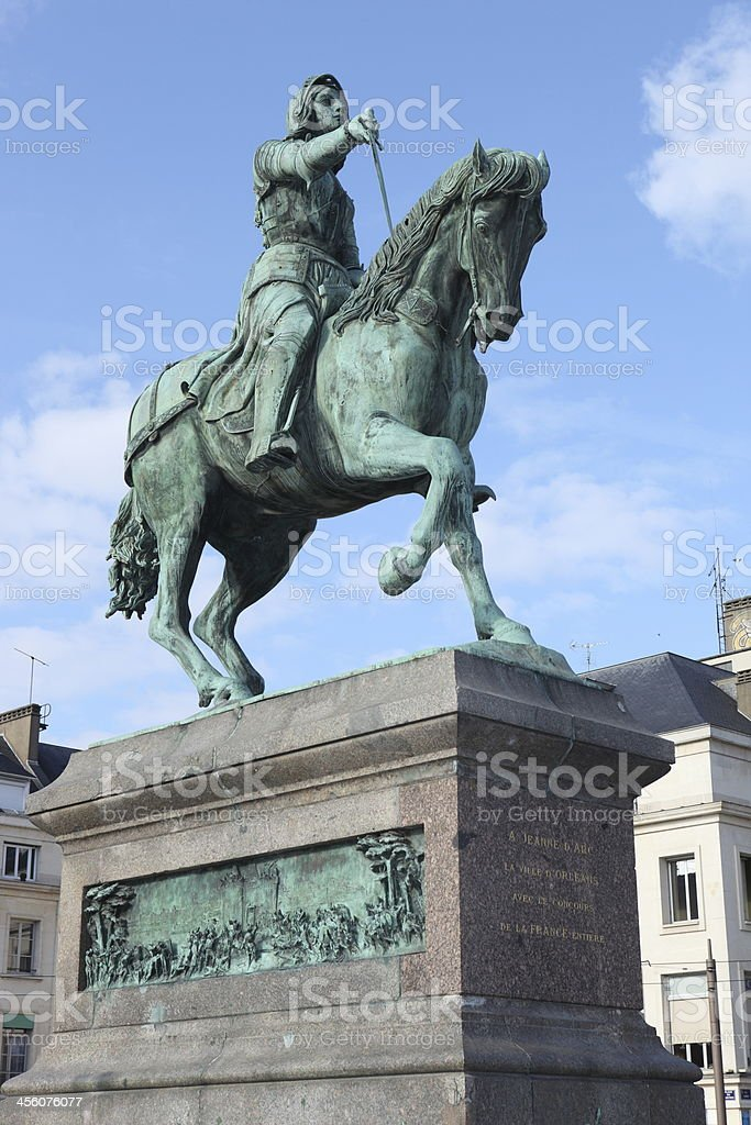 Statue of Jeanne d'Arc in Orl?ans, france stock photo