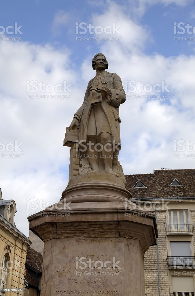 Statue of Jean-Philippe Rameau. Dijon, France stock photo