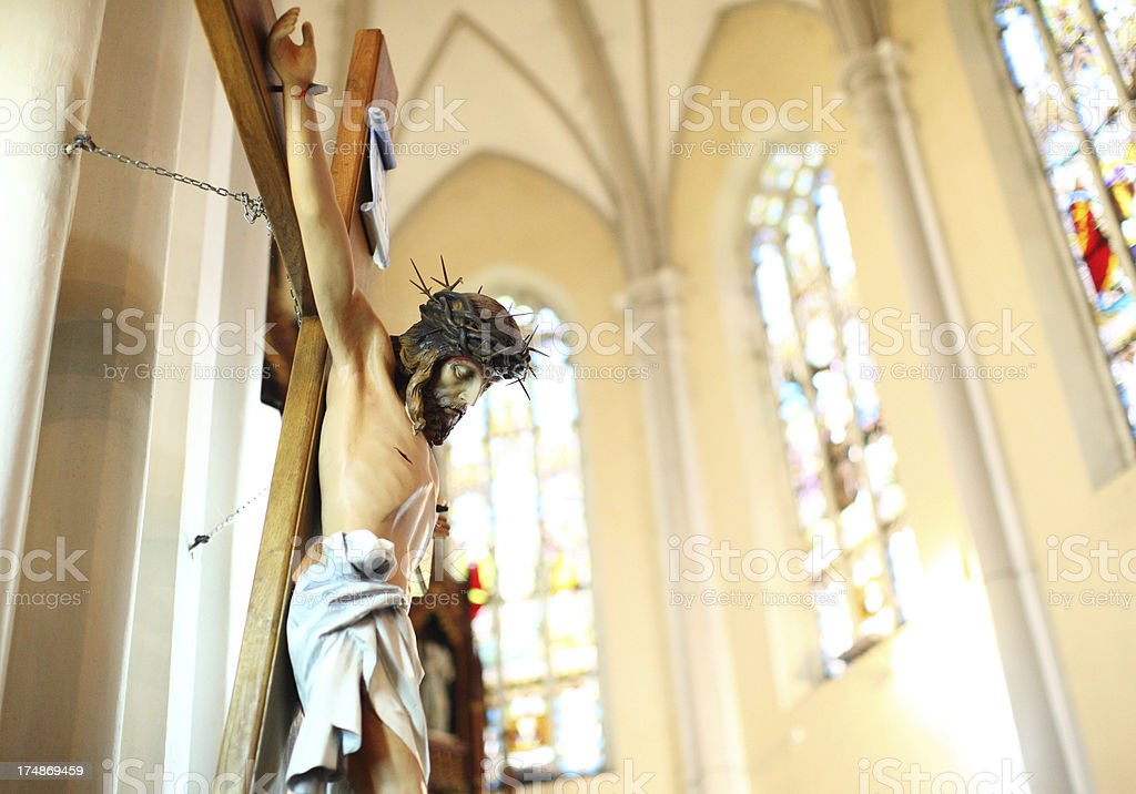 Statue of Jesus Christ crucified. royalty-free stock photo