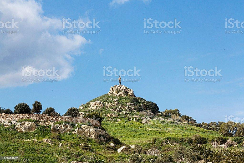 Statua di Gesù Cristo, Saviours Hill Gozo foto stock royalty-free