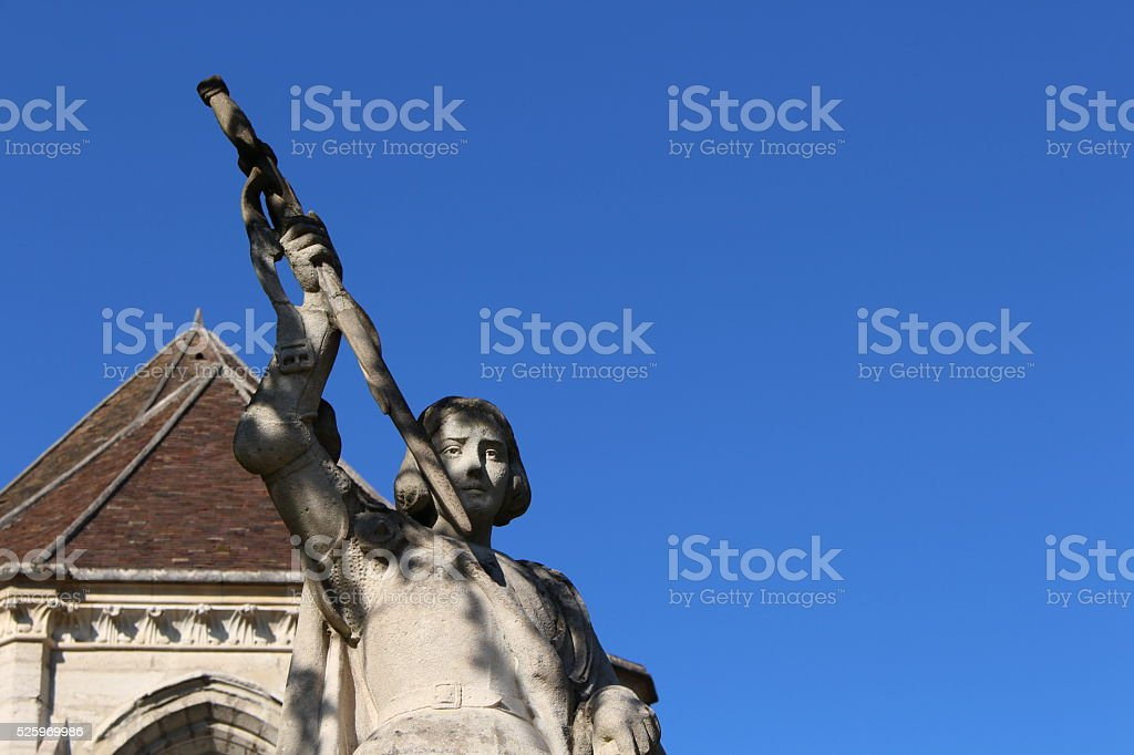 Statue of Joan of Arc stock photo