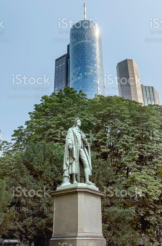 Statue of Johann Christoph Friedrich von Schiller stock photo