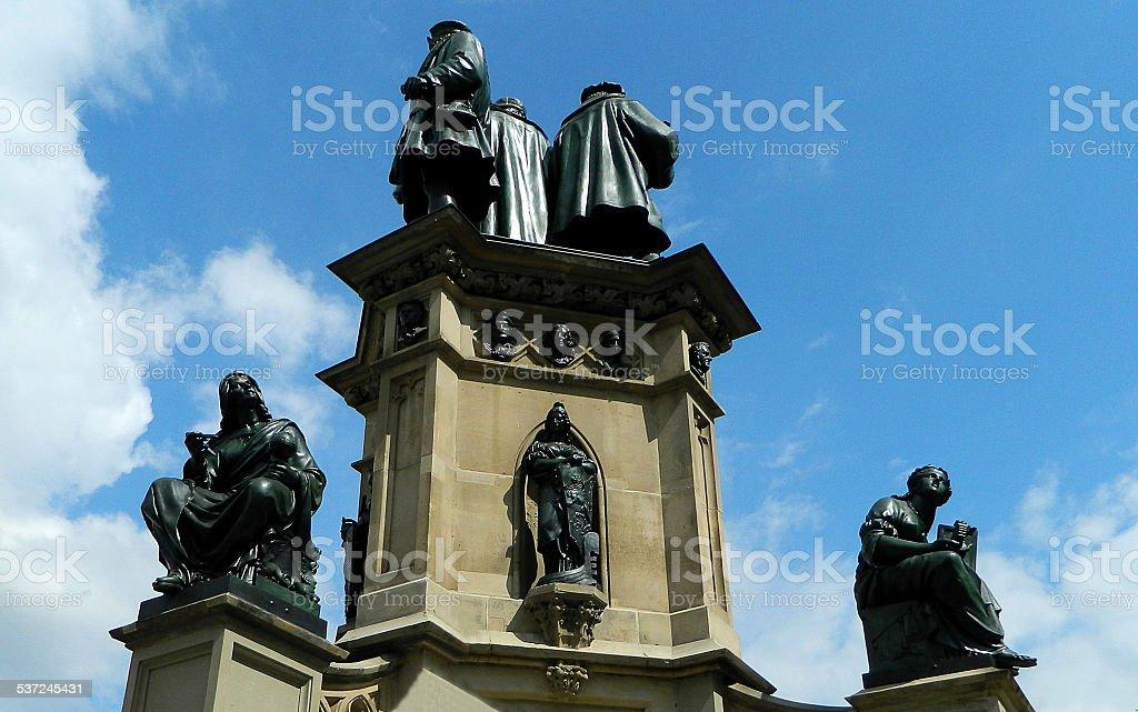Statue of Johannes Gutenberg stock photo