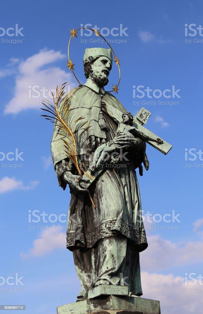 statue of John of Nepomuk stock photo