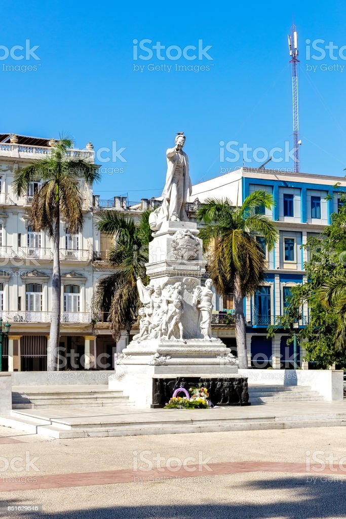 Statue of Jose Marti in Havana stock photo