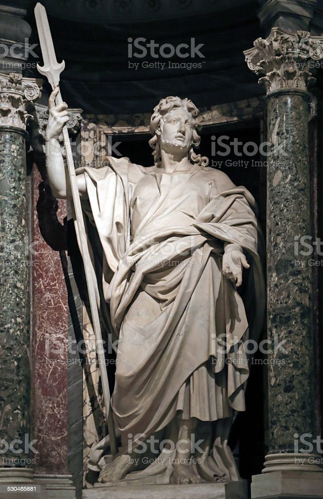Statue of Jude the apostle stock photo
