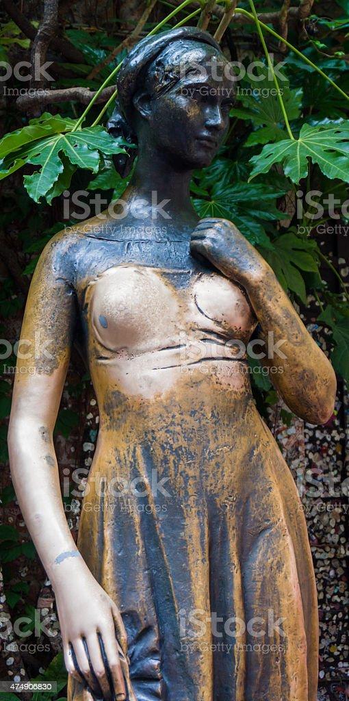 Statue of juliet in verona, italy stock photo