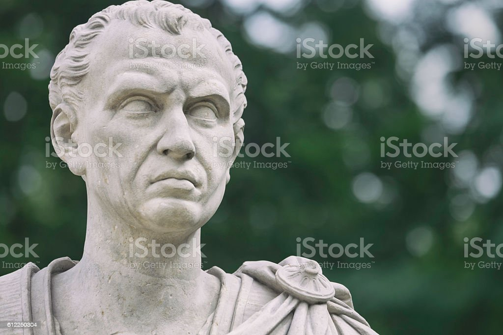 Statue of Julius Caesar stock photo