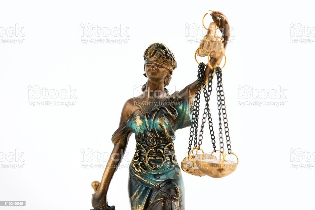 Statue Of Justice Closeup stock photo