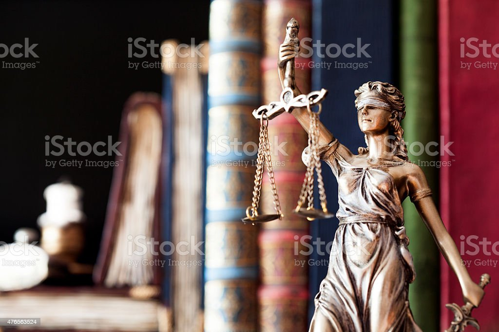 Statue of justice stock photo