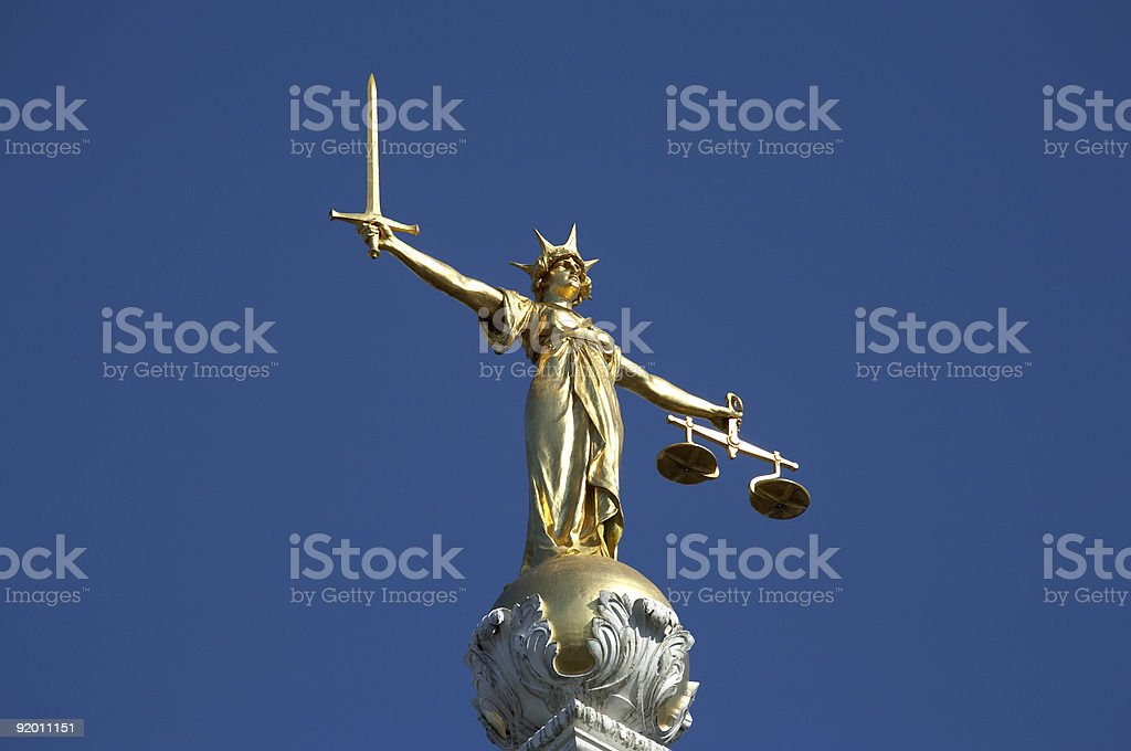 statue of justice royalty-free stock photo