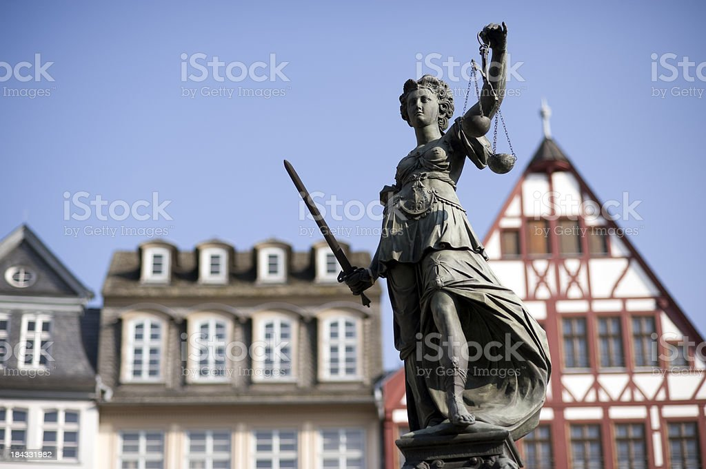 Statue of Justitia stock photo