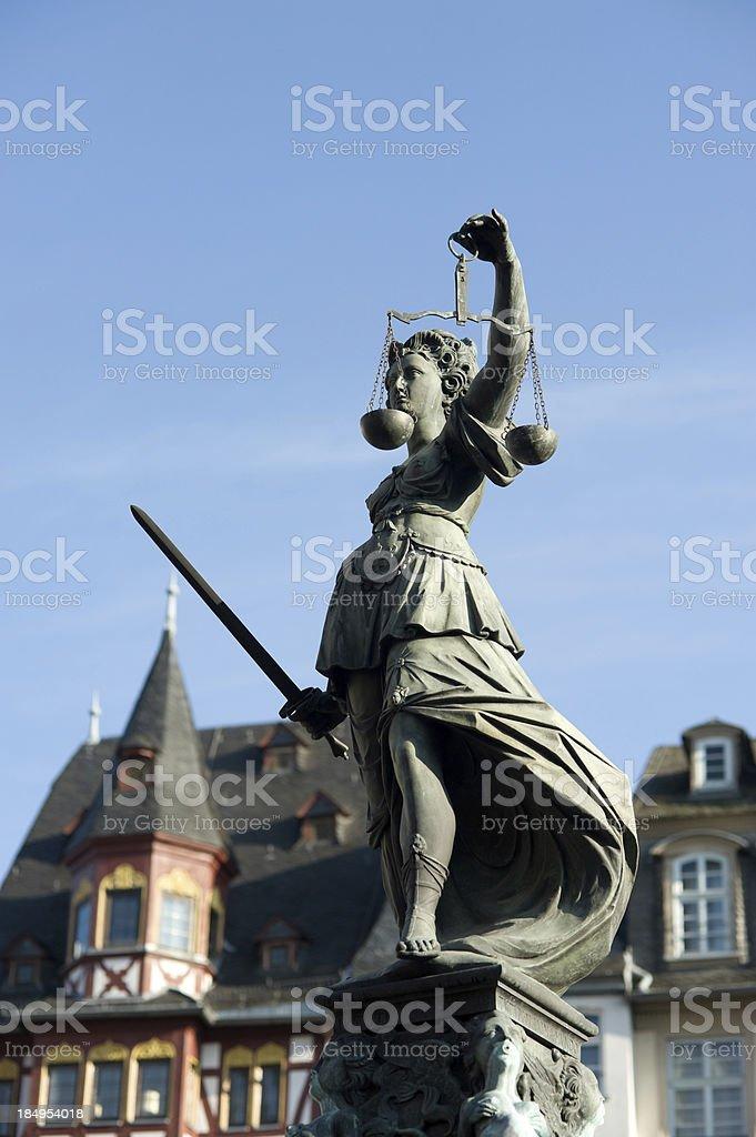 Statue of Justitia stock photo
