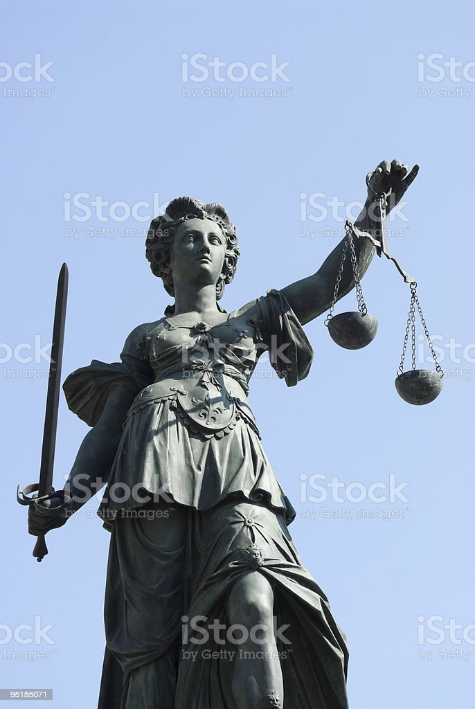 Statua di Justitia foto stock royalty-free