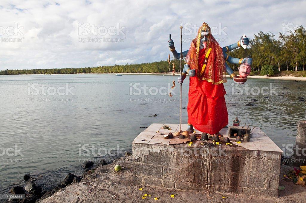 Statue of Kali, Hindu goddess, Mauritius island stock photo